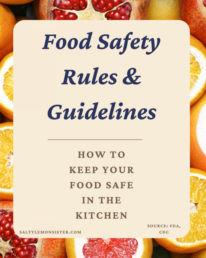 "a poster ""Food Safety Rules and Guidelines"""