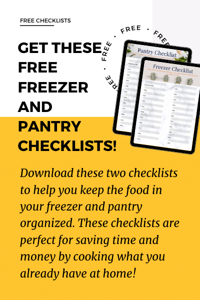 freezer and pantry checklist image