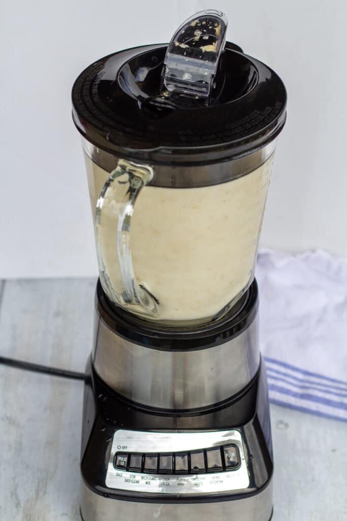oat milk in a blender