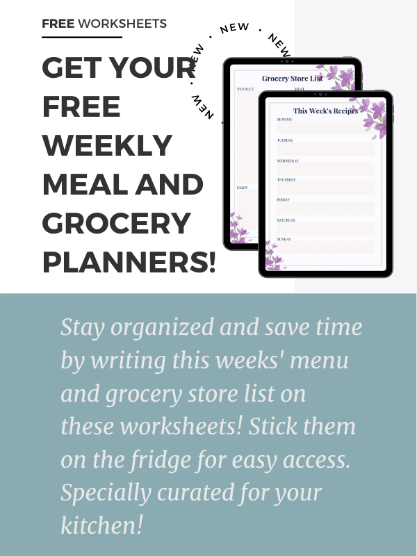 """""""Get your free weekly meal and grocery planner"""""""