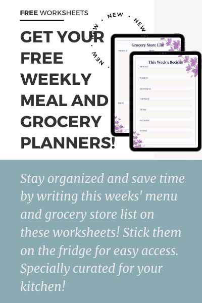"""Get your free weekly meal and grocery planner"""