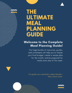 an image of the cover of a meal planning guide