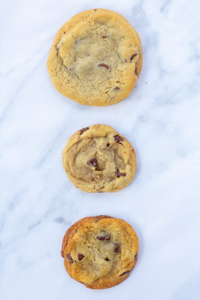 cookies made 3 different ways